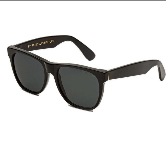 Retrosuperfuture Classic Black Polarized 703 Eye Size 55 New In Box Sunglasses